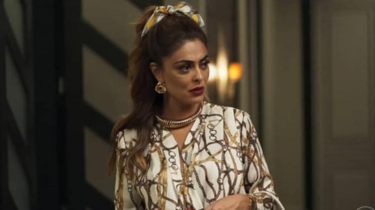 Maria da Paz aposta nas estamparias e no dourado - Reprodução/TV Globo