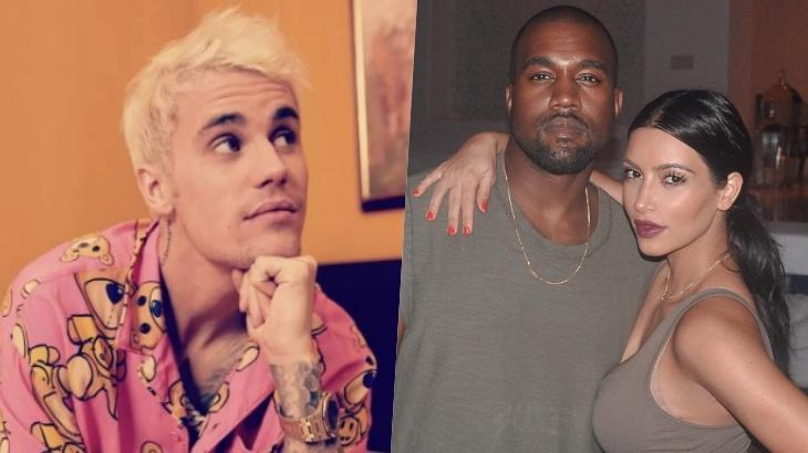 Justin Bieber interfere para evitar separação de Kim Kardashian e Kanye West