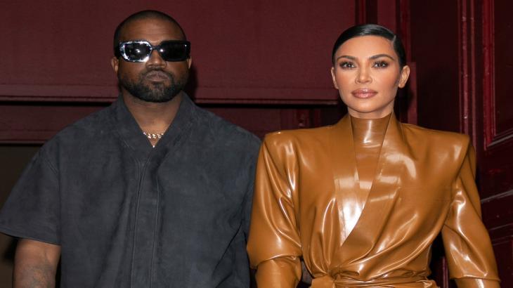 O casal Kanye West e Kim Kardashian
