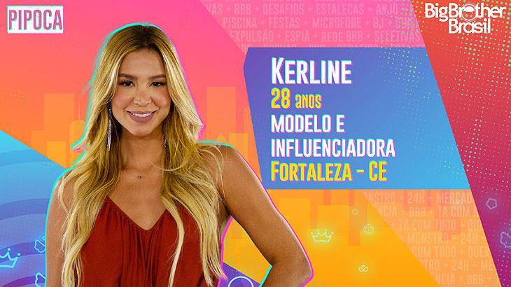 A modelo e influenciadora Kerline tem 28 anos e é de Fortaleza, no Ceará