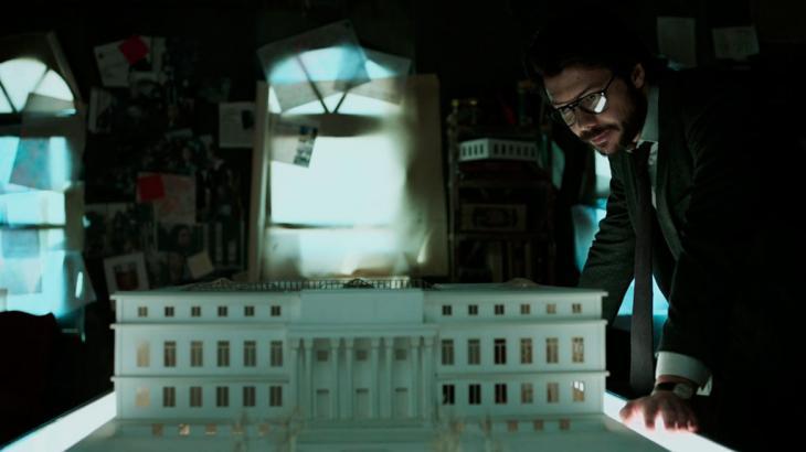 Professor arquitetando o roubo à Casa da Moeda - Divulgação/Netflix