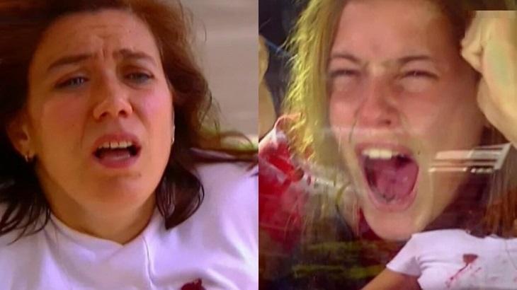 Lilia Cabral e Deborah Secco como Ingrid e Íris em cena de Laços de Família, em reprise na Globo
