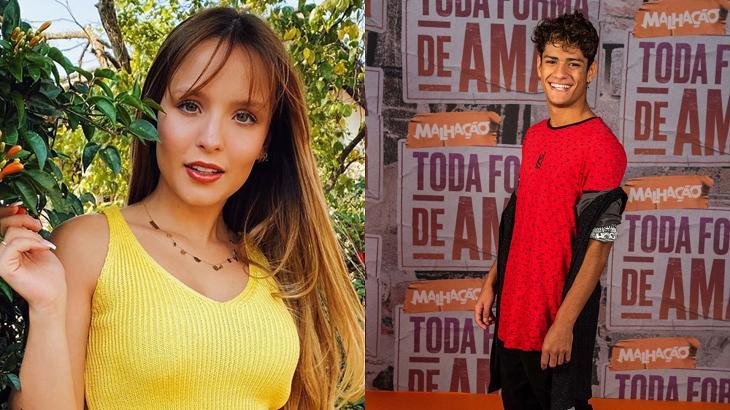 Larissa Manoela e Gabriel Santana são dois dos rostos famosos do SBT - Foto: Montagem