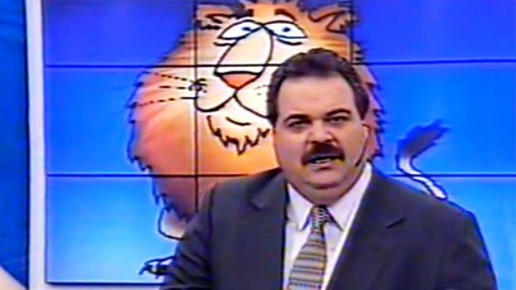 Leão Livre na Record em 1998 - Reprodução