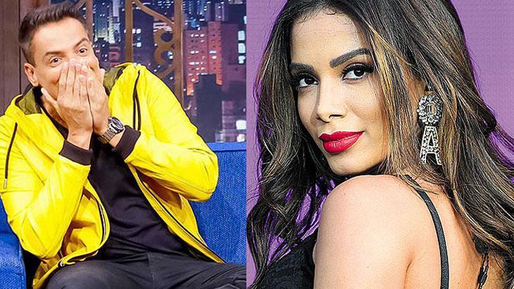 Fotomontagem NaTelinha/ Leo Dias (Gabriel Cardoso/SBT) e Anitta