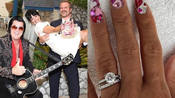 Lily Allen se casou com o ator norte-americano David Harbour