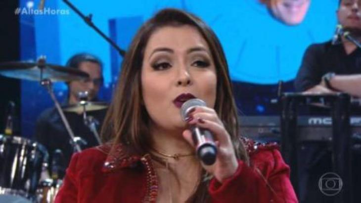 Li Martins em cena no programa