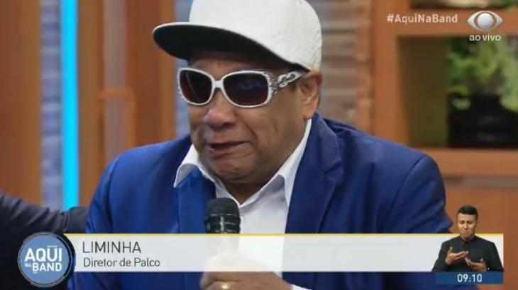 Liminha vai às lágrimas ao falar de Gugu - Reprodução/TV Bandeirantes
