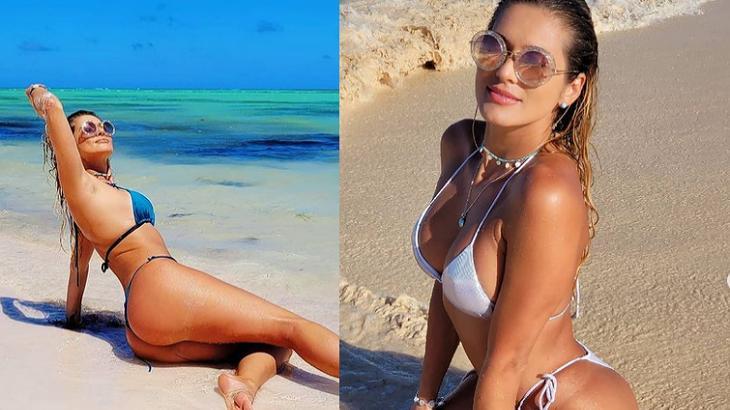 Lívia Andrade de biquíni e na praia