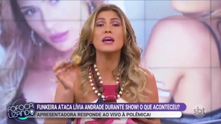 Lívia Andrade e MC Mirella se estranharam no