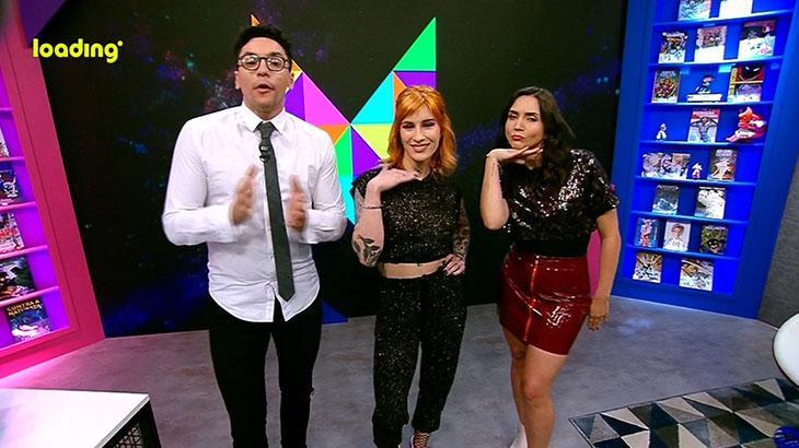 Fabio Gomes, Mari Ayrez e Fernanda Pineda, apresentadores da Loading TV