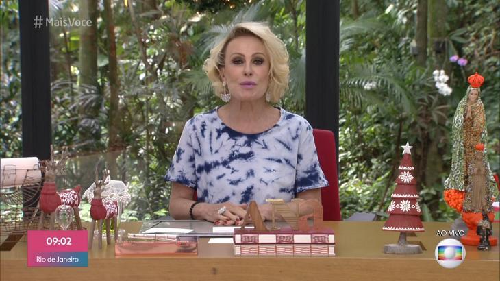 Ana Maria Braga falou do Flamengo - Reprodução/Globo