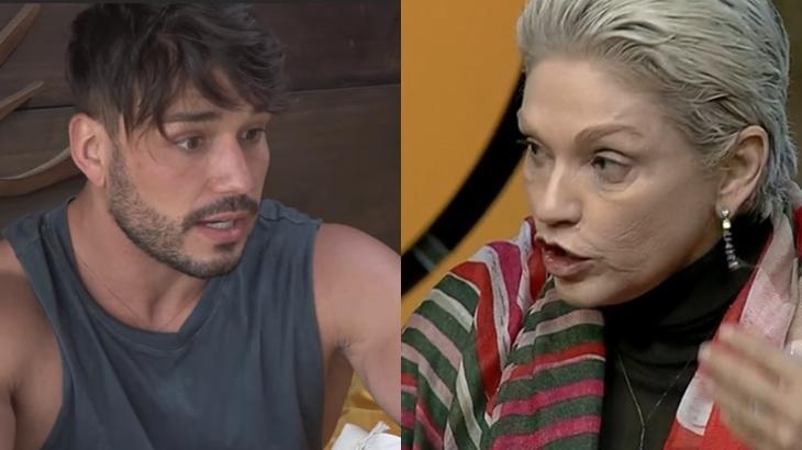 Lucas Viana e Andréa Nóbrega em A Fazenda 2019 (Reprodução/Montagem)
