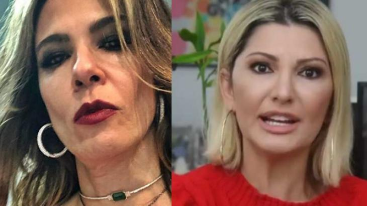 Luciana Gimenez em em selfie e Antonia Fontenelle durante programa