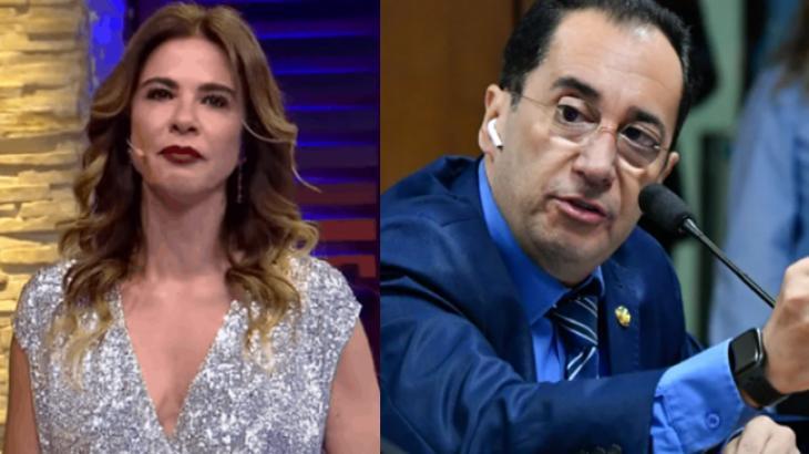 Luciana Gimenez e Jorge Kajuru