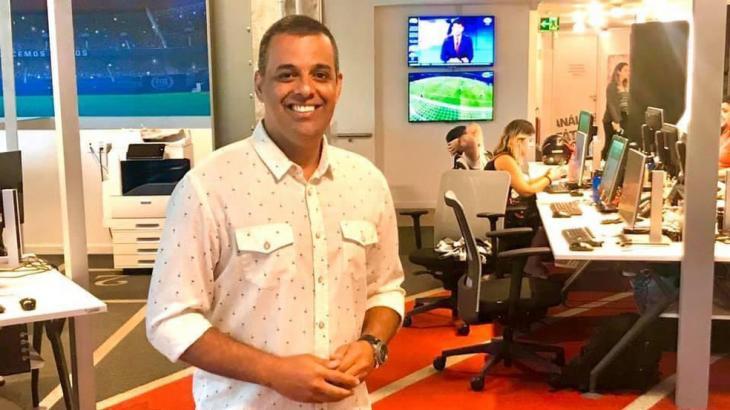Luciano Calheiros na redação da NSC TV