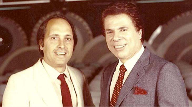 Luciano Callegari e o apresentador Silvio Santos