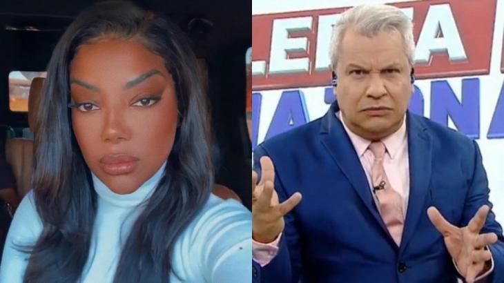Ludmilla fez críticas a comentários de Sikêra Jr durante o Alerta Nacional, programa da RedeTV!