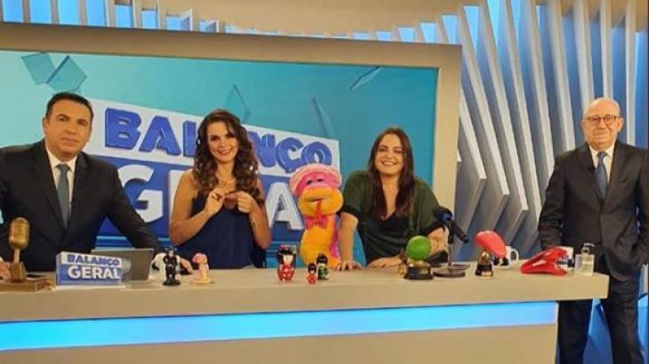 Luiza Ambiel participou do Balanço Geral. Reprodução Record TV