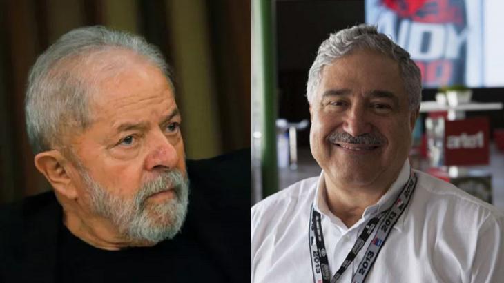 Lula (à esquerda) e Johnny Saad (à direita) em foto montagem