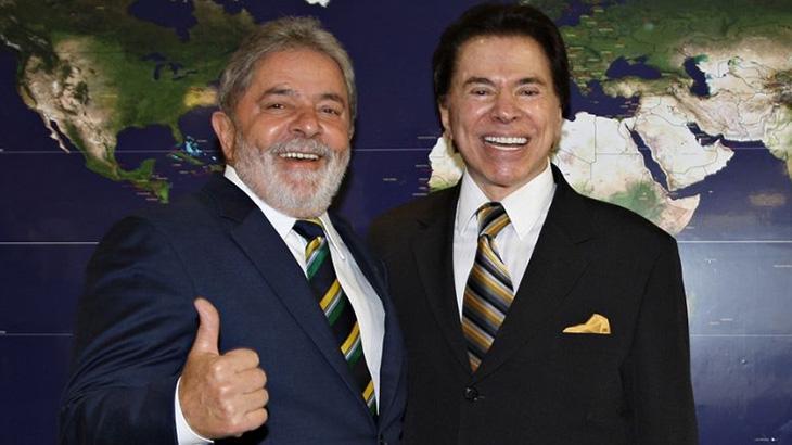 Silvio Santos visitou o ex-presidente Lula no Palácio do Planalto, em 2010