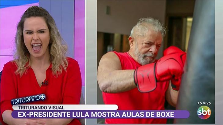 Ana Paula Renault elogia o ex-presidente Lula no Triturando