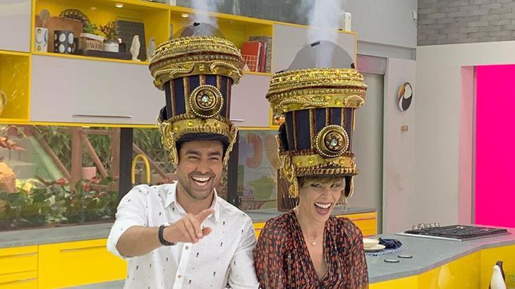 Ricardo Pereira e Ana Furtado no Mais Você