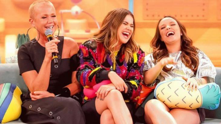 Xuxa e Larissa Manoela foram as convidadas deste sábado no