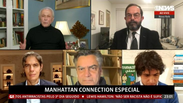Cena do último Manhattan Connection