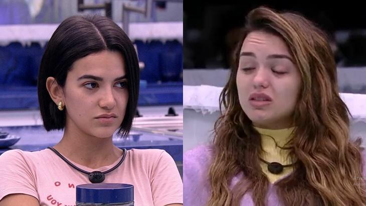 Manu Gavassi repreendeu Rafa Kalimann ao ver amiga cair no choro por Flayslane no BBB20 - Foto: Globo/Montagem