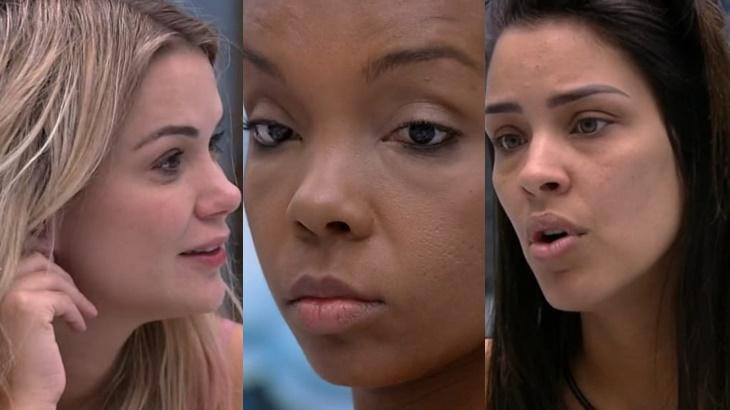Marcela, Thelma e Ivy durante o reality show BBB20