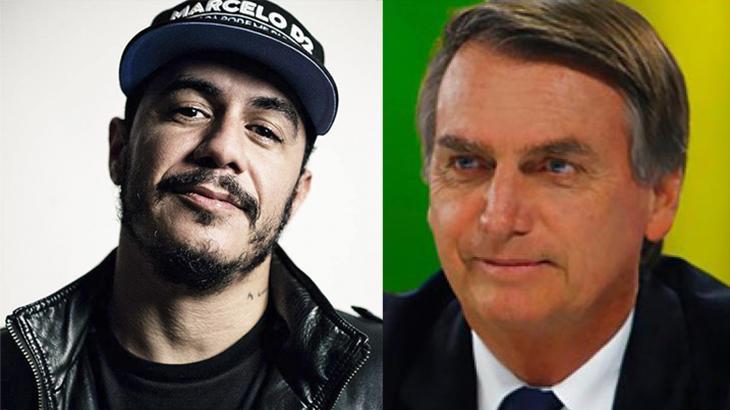 Marcelo D2 e Jair Bolsonaro trocaram tweets em reta final das eleições - Foto: Reprodução
