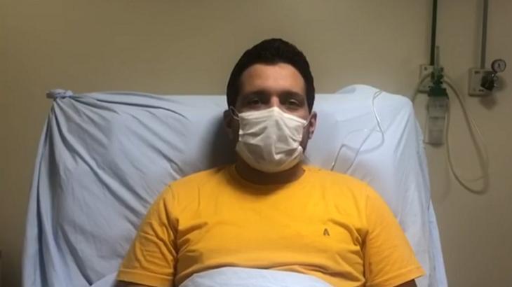 Marcelo Magno no hospital - Foto: Reprodução/Globo