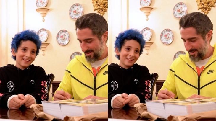 O apresentador Marcos Mion ao lado do filho Stefano, de 9 anos. (Reprodução/Instagram)