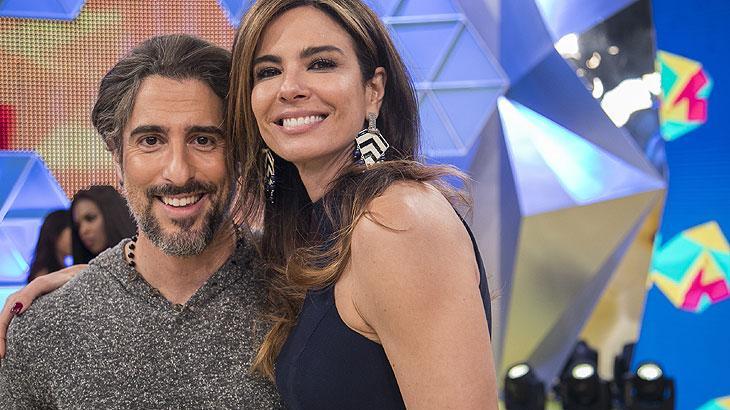 Marcos Mion recebeu Luciana Gimenez no seu programa