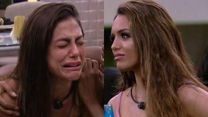 Mari Gonzalez e Rafa Kalimann durante o reality show BBB20