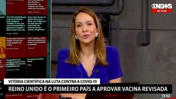Maria Beltrão no Estúdio i - Foto: Reprodução/GloboNews