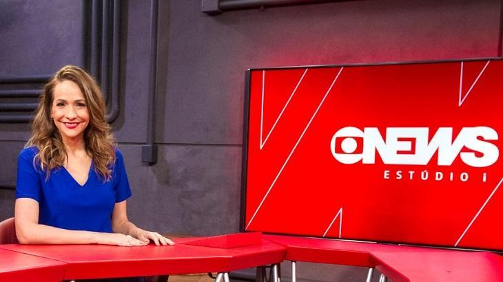 Maria Beltrão sorrindo no Estúdio i