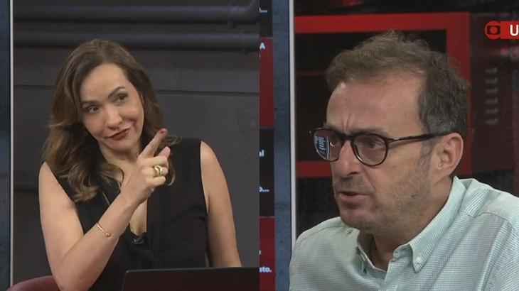 Maria Beltrão repreendeu Octavio Guedes no Estúdio I, programa da GloboNews