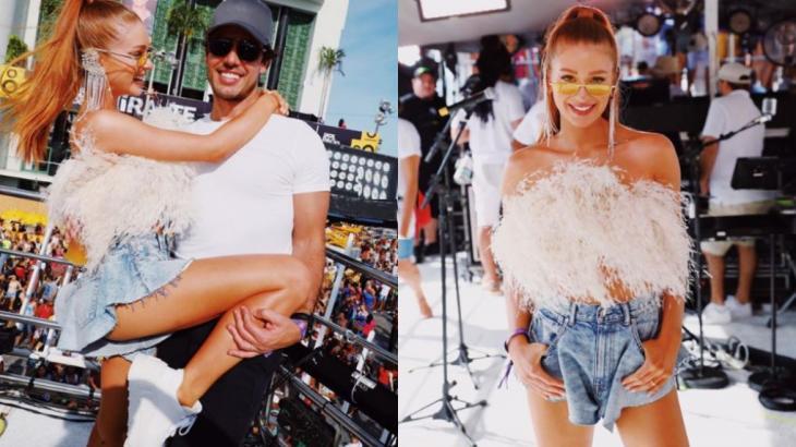 Ao lado do marido Xandinho Negrão, Marina Ruy Barbosa curtiu o Carnaval de Salvador - Instagram/Reprodução