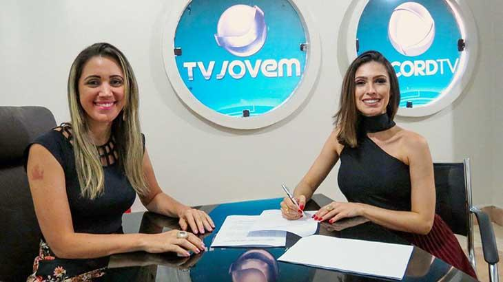 Marina Maimone assina contrato com a afiliada da Record no Tocantins - Divulgação