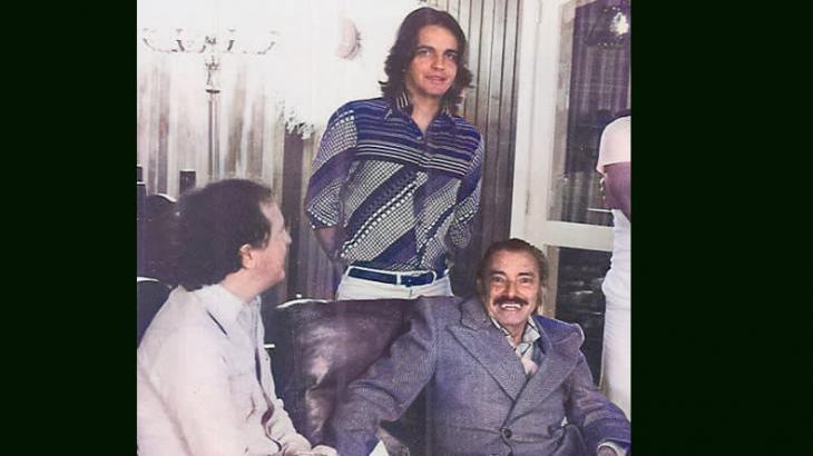 André com Mazzaropi em reunião