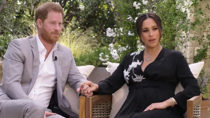 Meghan e Harry no programa da Oprah
