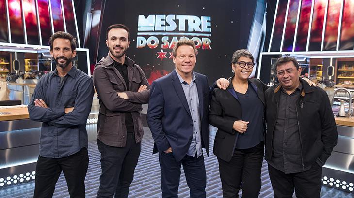 José Avillez, Leo Paixão, Claude Troisgros, Kátia Barbosa e Batista - Foto: TV Globo/Victor Pollack
