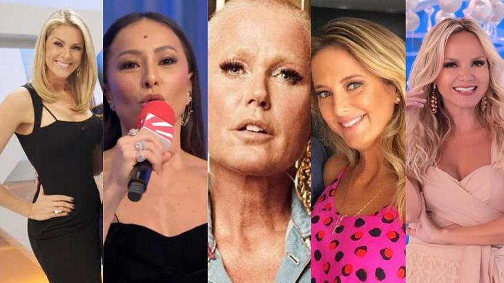 Ana Hickmann, Sabrina Sato, Xuxa, Ticiane Pinheiro e Eliana