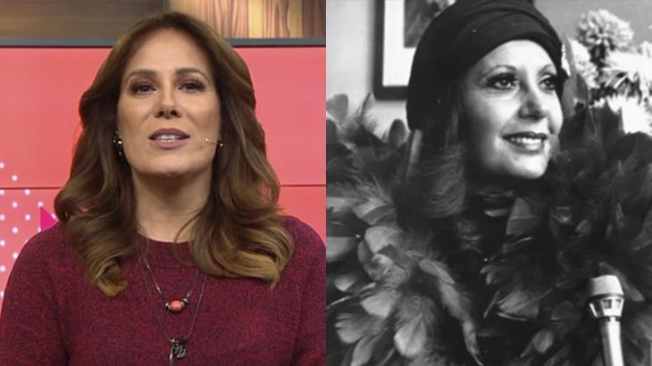 Regina Volpato homenageia Clarice Amaral, apresentadora da primeira versão do programa Mulheres, da Gazeta