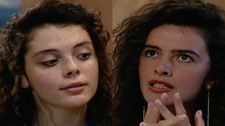 Mylla Christie e Luma de Oliveira na novela Meu Bem, Meu Mal (1990)