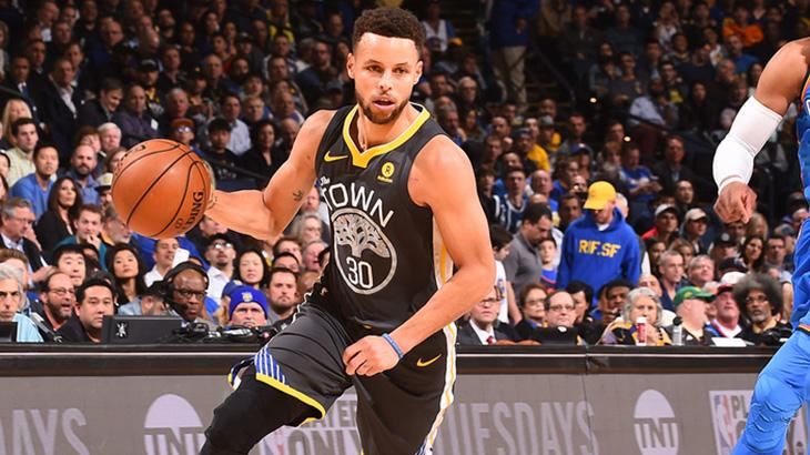 Um dos jogadores do Warriors, Stephen Curry, pode estar na final da NBA, na Band
