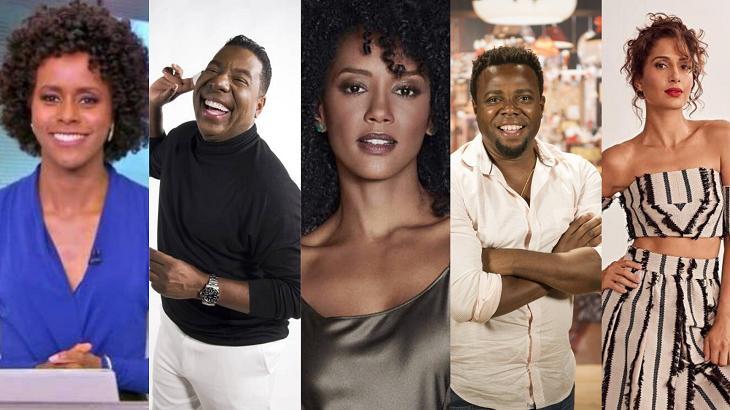 Artistas negros na televisão - Foto: Montagem
