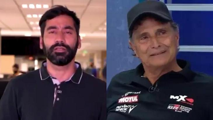 Tossino Neto (à esquerda) e Nelson Piquet (à direita) em foto montagem